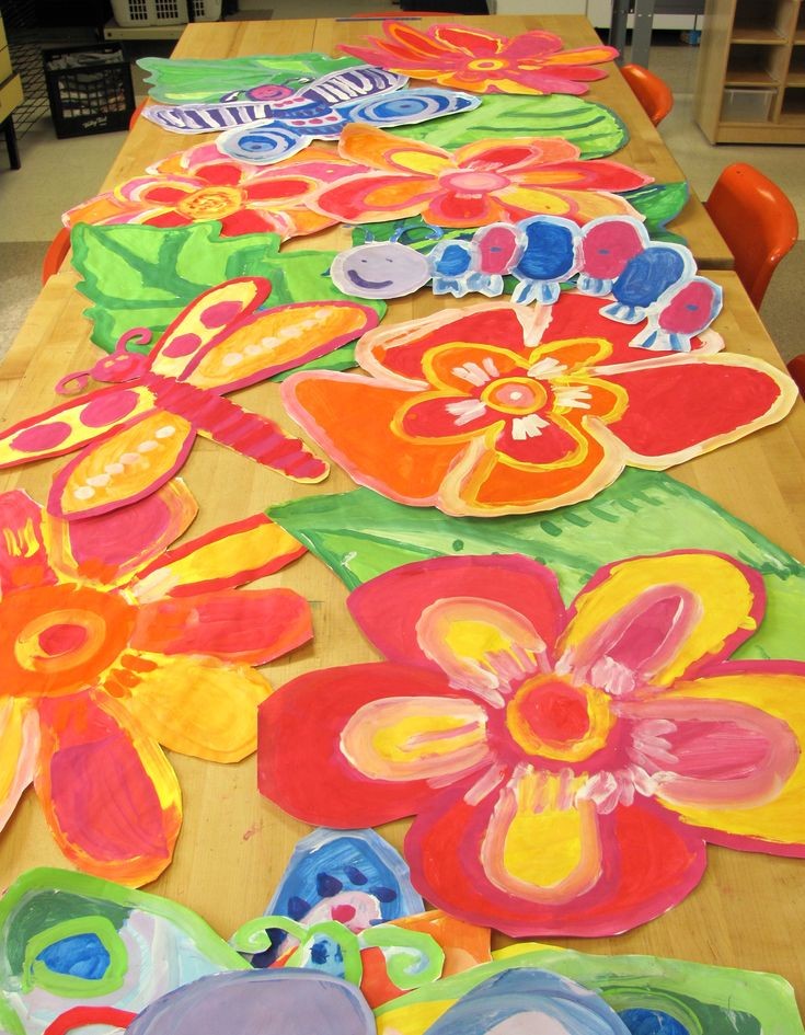 Collaborative 2nd grade painting.