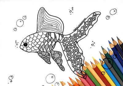 Fish coloring page to print downloads printable page A4 jpg
