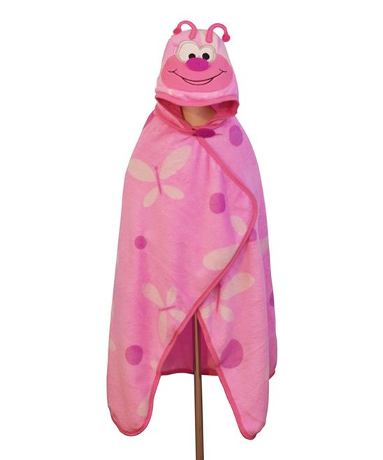 Pink Butterfly Button-Nose 3-in-1 Blanket/Towel/Pillow