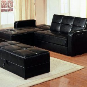 Black Leather Sectional Sofa Sleeper