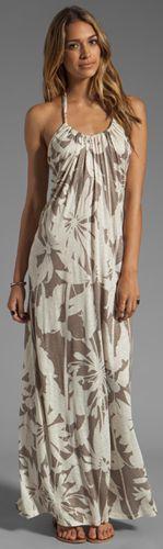 Orville Corfu Maxi Dress in Cameo