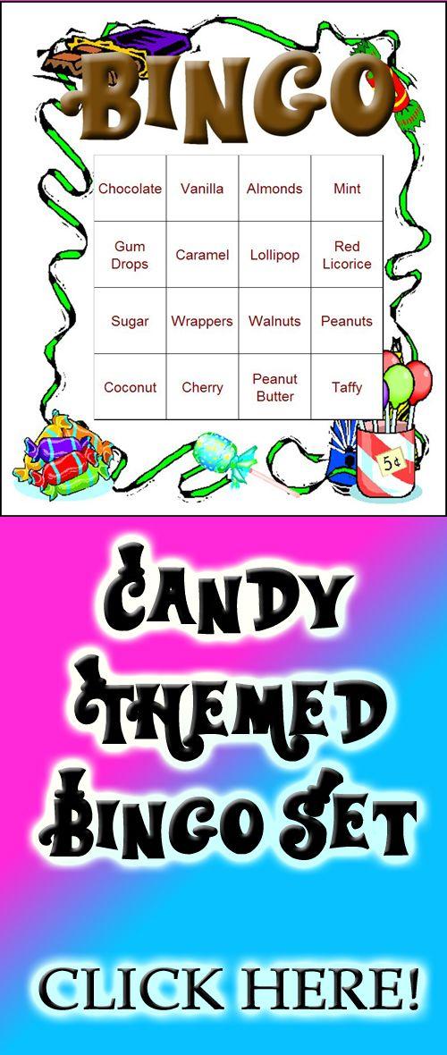 A Candy Themed Bingo Set