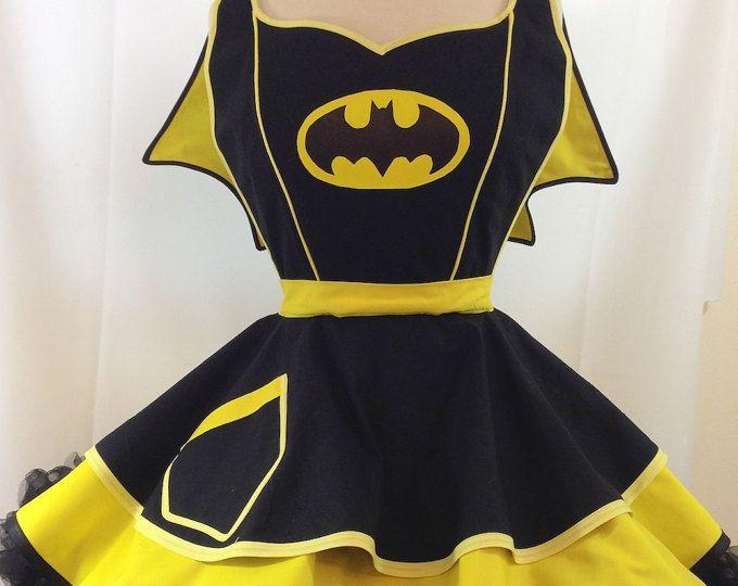Bat girl Apron. SassyFrasCollection on Etsy