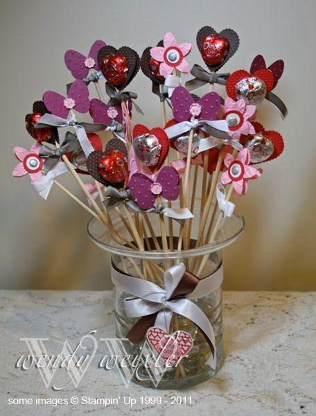 a chocolate bouquet