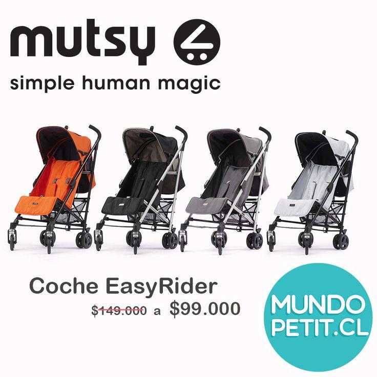 Coche Paraguas, EasyRider de Mutsy. Rebajado . Elije tu color preferido. www.mundopetit.cl #mutsy #coche #pram