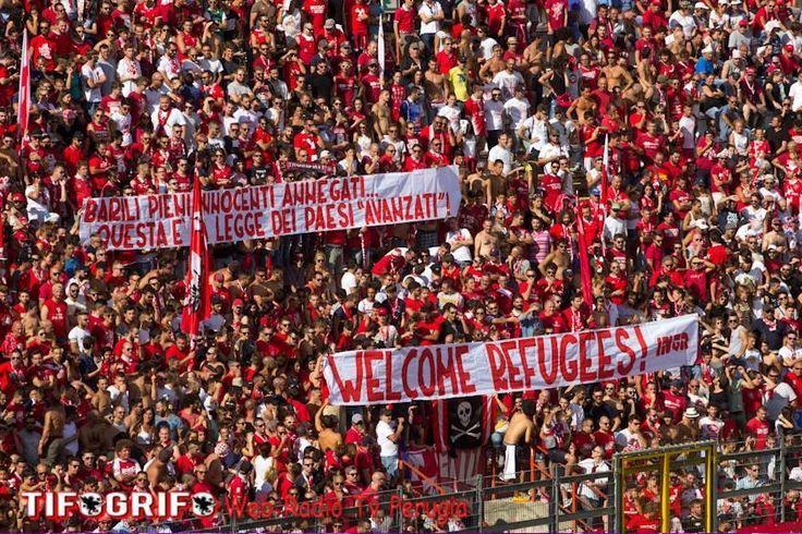 #refugeeswelcome in Perugia, Umbria, Italy team: A.C. Perugia Calcio