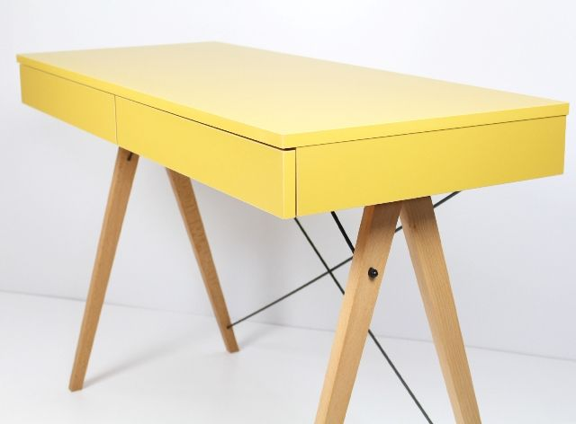 Biurko Basic MINKO  www.euforma.pl #desk #design #home #kids #room #yellow #office