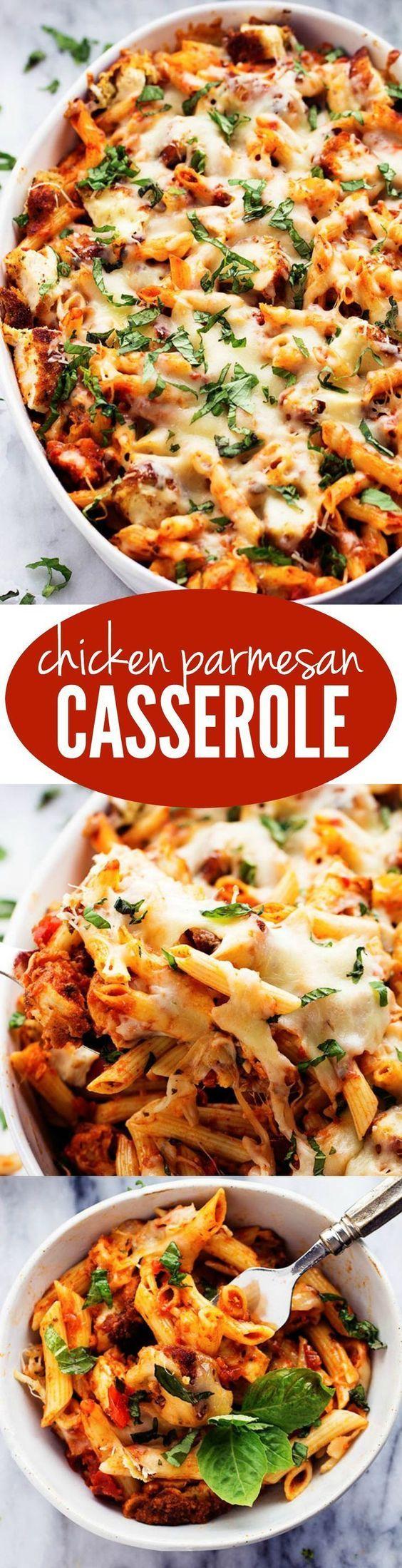 Parmesan Chicken Casserole   – DiNnEr