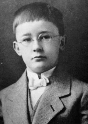 Head of the Nazi Gestapo and one of the top orchestrators of the Holocaust, Heinrich Himmler (born October 7, 1900) at age six or seven.