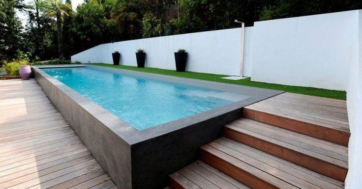 Les 25 meilleures id es concernant piscine creus e sur pinterest cl ture au - Piscine demi enterree ...
