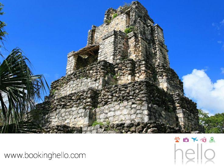 EL MEJOR ALL INCLUSIVE AL CARIBE. Muyil es una Ruina Maya ubicada dentro de la reserva Sian Ka'an que consta de tres edificios restaurados, donde hay que recorrer un camino que atraviesa la selva para llegar a la hermosa laguna. Si bien aquí no hay playa, es un lugar donde hay mucha historia. En Booking Hello, te recomendamos que, si viajas al Caribe mexicano, conozcas con tus amigos sus interesantes atractivos. www.bookinghello.com #BeHello
