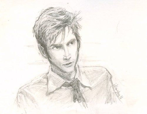 .David Tennant by burge bug. (SOOOO wish I drew this) she is SO talented!