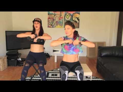 Cardio workout on a chair 1 (for people with bad/weak/injured knees) - YouTube