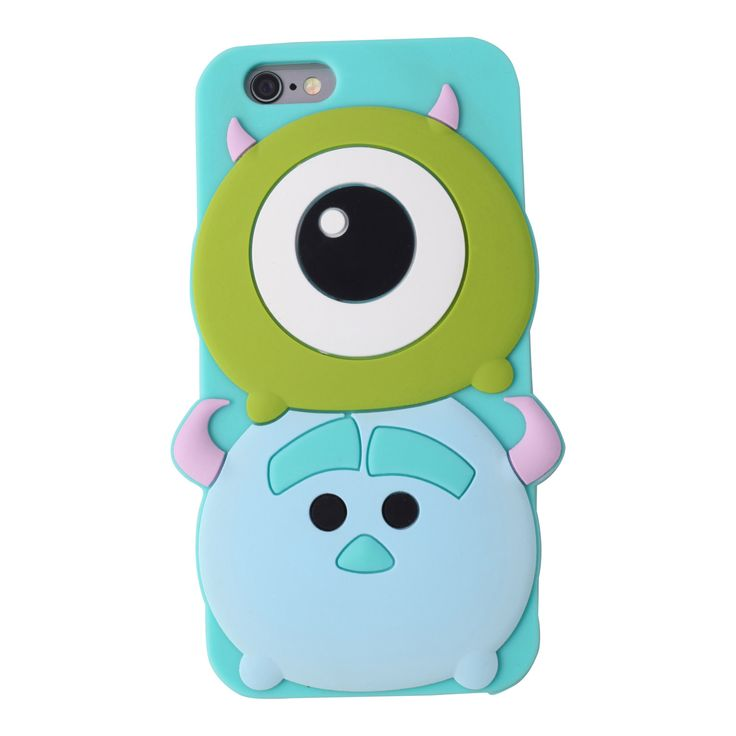 This soft and flexible silicone phone case features Mike and Sulley stacked on each other in classic Tsum Tsum style. Available for iPhone 5 and iPhone 6.