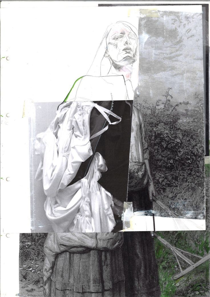 Fashion Sketchbook - fashion drawing; creative fashion collage; fashion portfolio // Irina Tsoy