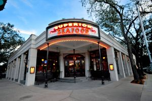 Superior Seafood and Oyster Bar- New Orleans, St. Charles Ave. ...awesome grilled catfish and raw oysters.