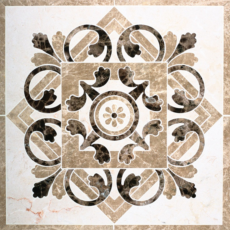 Marble waterjet medallion for tile floors - love them in the foyer or several together in a dining room