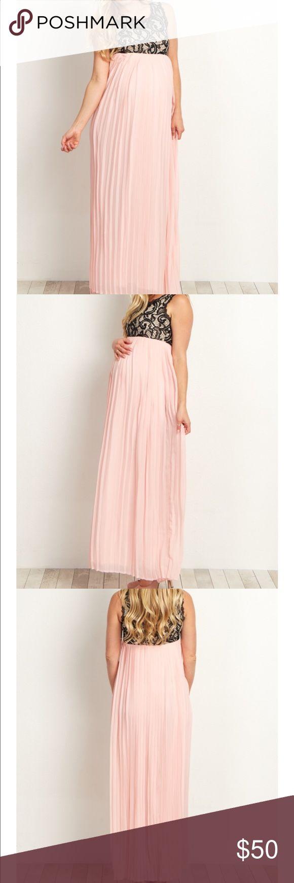 Maternity maxi dress Beautiful pink blush maternity new with tag maxi dress Pinkblush Dresses Maxi
