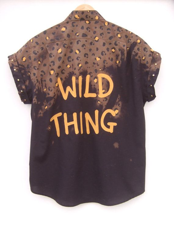 Wild Thing Ombre Leopard Print Shirt by tappingtonandwish on Etsy