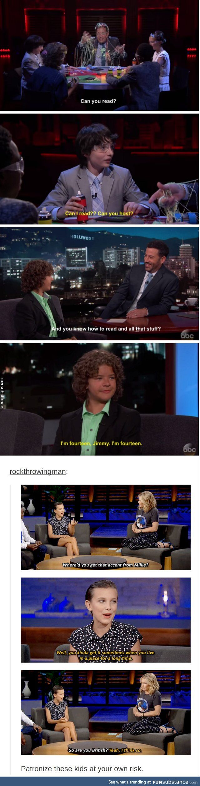 "the ""stranger things"" kids are savage"