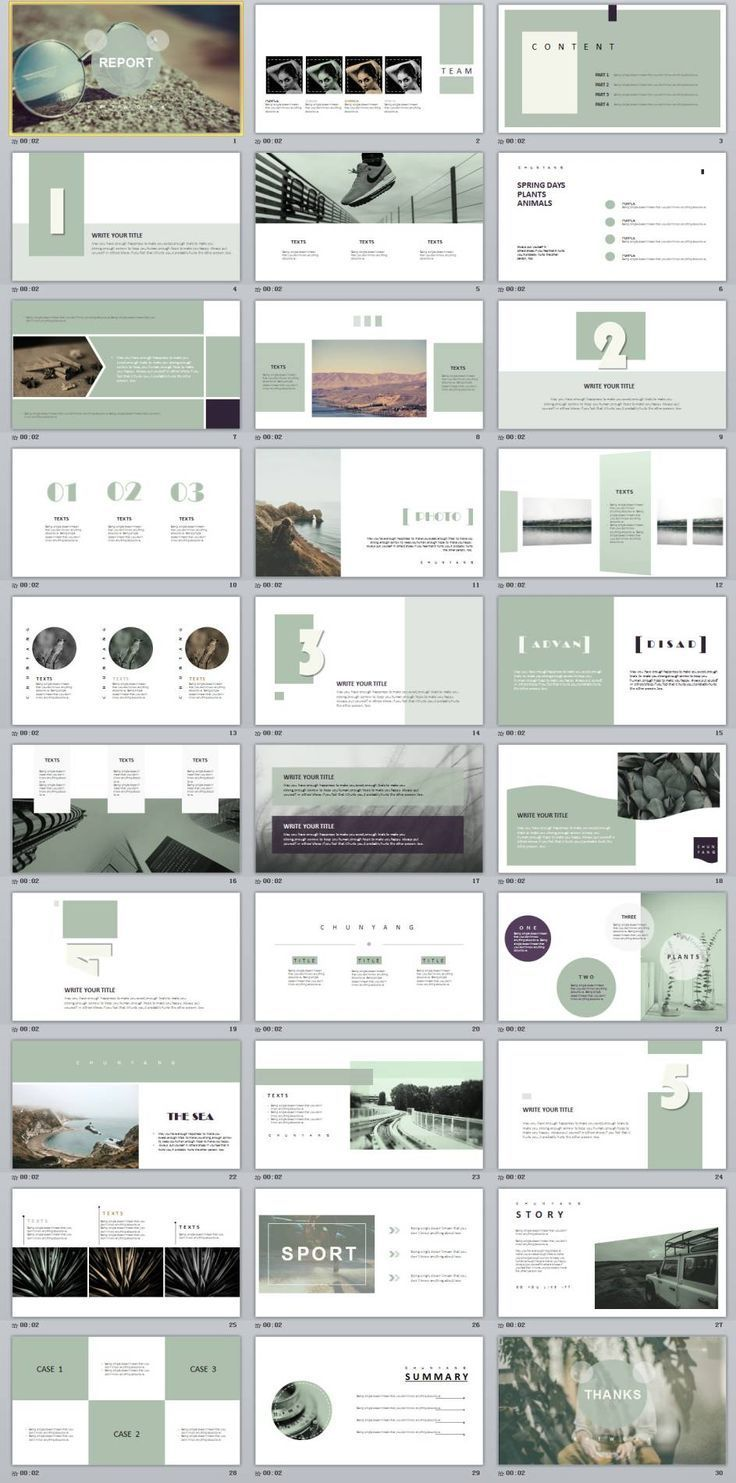 Business infographic 30+ magazine style PowerPoint