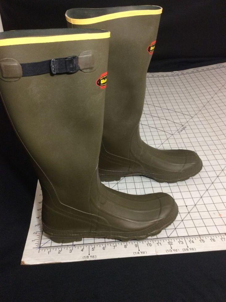 LaCrosse Hunting Fishing Water Rain Mud Boots Size 14 Knee High #LCrosse #18inwaterproofHunting