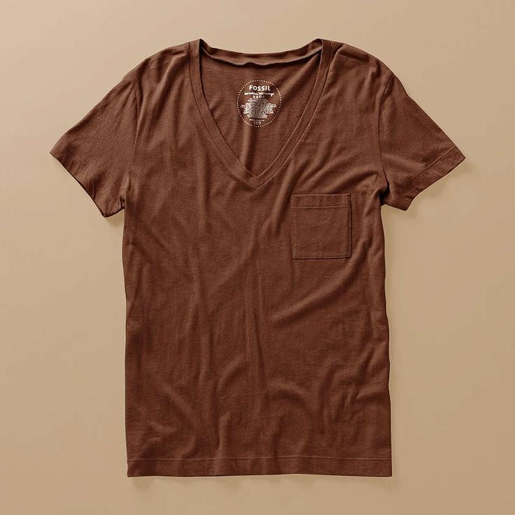 FOSSIL® Clothing Tops:Women Jordan V-Neck Tee WC6356