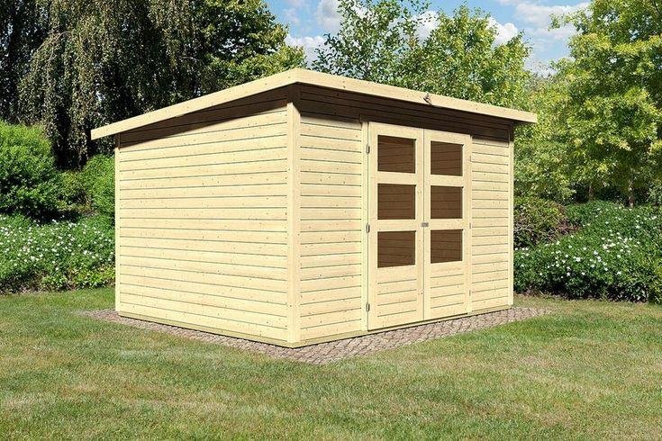KARIBU Gartenhaus »Stakkato 5«, BxT: 305x246 cm, 19 mm, natur für 799,99€. Aus nordischem Fichtenholz, Steck- und Schraubsystem bei OTTO
