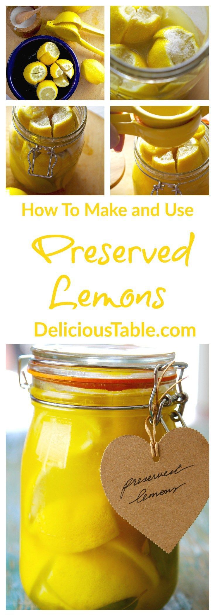 """Preserved lemons add INCREDIBLE fresh intense """"lemony"""" flavor; try on roast chicken, grilled fish, or lemon hummus. Mix into drinks, salads, and dressings. {sponsored}"""
