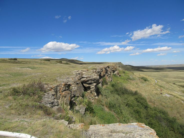 Head-Smashed-In Buffalo Jump, Alberta, Canada - cliffs where buffalo were herded over
