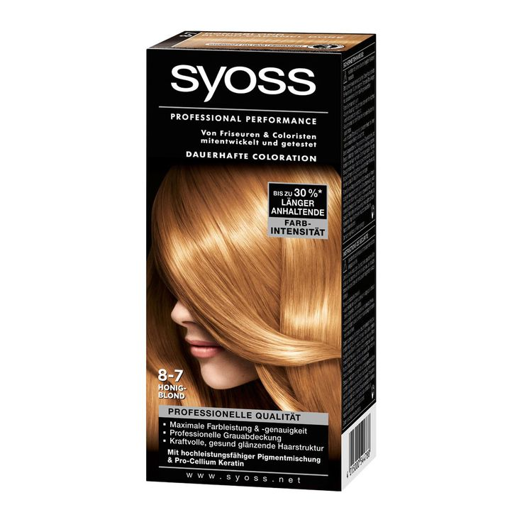 Syoss Color Classic 8-7 Honeyblond offers an intensive, long lasting color result and professional gray cover in salon quality. Ultra-concentrated micro-color particles penetrate 10 layers of hair for maximum color intensity and anti-fading protection. Semi-Permanent and Ammonia-free.
