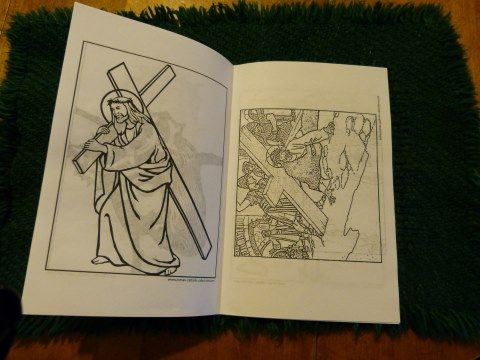 traditional catholic printable stations of the cross booklet according to the method of st alphonsus liguori for fridays in lent and all year - Lent Coloring Pages Booklets Kids