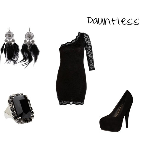 This is a dressier version of the Dauntless attire that Tris might be seen wearing at her party.
