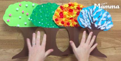 Albero delle stagioni - lavoretto per bambini
