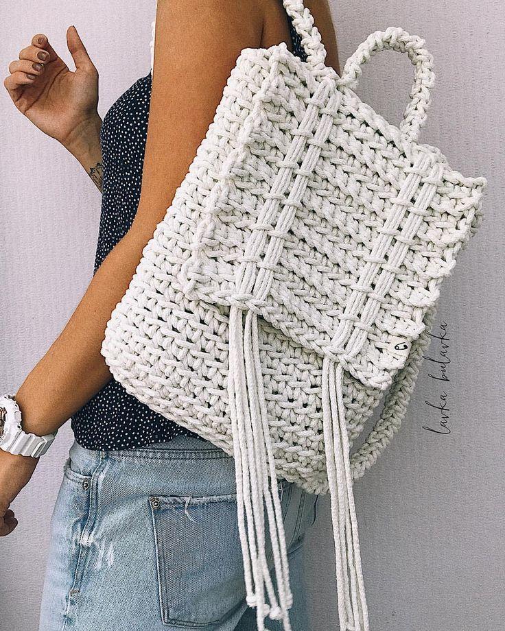 1,321 отметок «Нравится», 20 комментариев — ВЯЗАНИЕ❤Anastasia Asanova (@lavka_bulavka) в Instagram: «Вобщем , в белом-то цвете рюкзак оказался ещё эффЭктней Моя новая любовь❤️ 〰〰〰〰〰〰〰〰〰〰〰…»