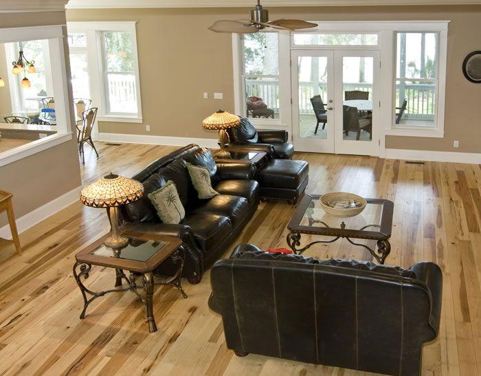 Hickory Flooring By Shamrock Plank Shamrockplankflooring FlooringHardwood FloorsLiving Room PaintLiving IdeasLiving