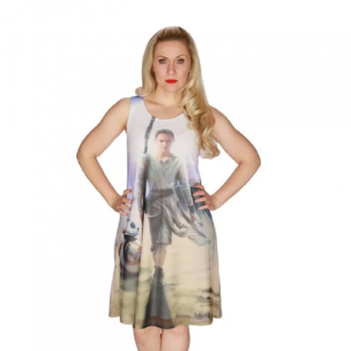 "'Star Wars' Merchandise Forays Into Women's Fashion  Women cosplayers now have more female clothing and accessory choices if they opt to dress in a ""Star War""-motif attire. Big fashion brands such as Uniqlo and Diane von Furstenberg have jumped into the bandwagon and started selling items such as R2-D2 pumps and Dark Side mascara.  This contrast to five years ago when the only ""Star Wars"" clothing that women could wear was a T-shirt. Now the choice ranges from lightsaber skirts to Darth Vade"