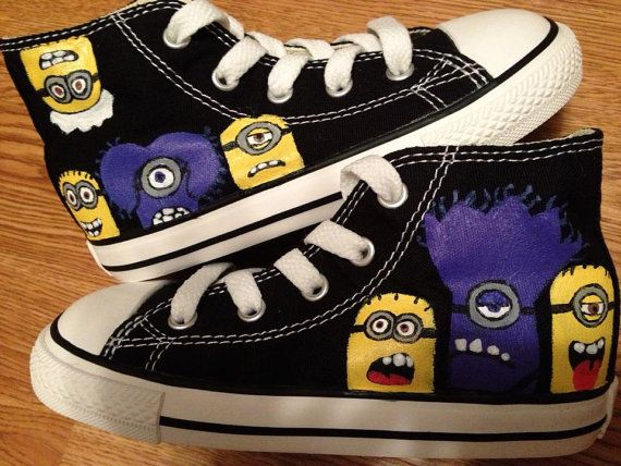 Despicable Me Minion Hand Painted Converse by CandysCustomPaints, $85.00