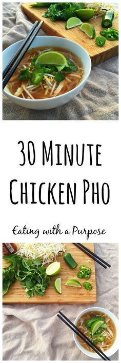 30 Minute Chicken Pho by Eating with a Purpose (sub zoodles )
