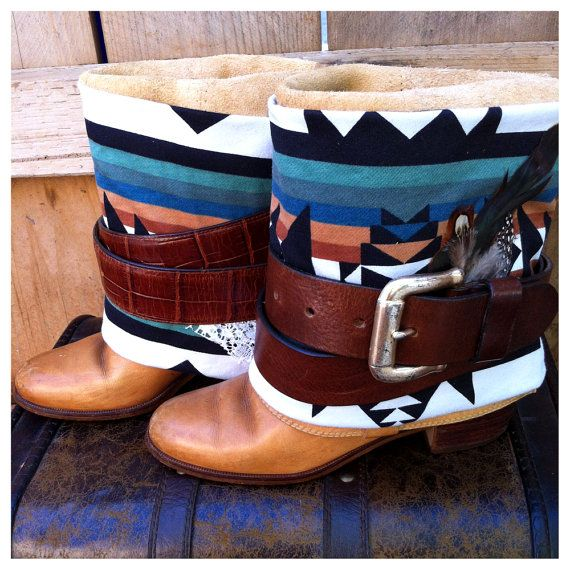 SALE Size 5.5 Redesigned Southwestern Navajo Tan Riding Boots