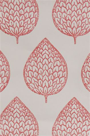buy layered leaf red wallpaper sample from the next uk online shop