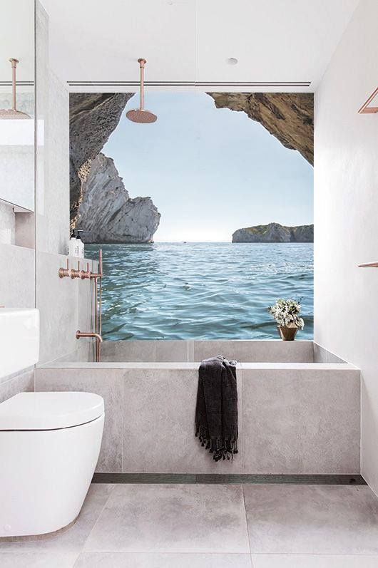 49 best carta da parati bagno images on pinterest bathroom contemporary wallpaper and wall papers - Carta da parati lavabile per bagno ...