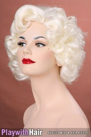 Delightful Marilyn Monroe style pinup hair, perfect for Betty Page, Pinup, Burlesque and Rockabilly hair styles!!