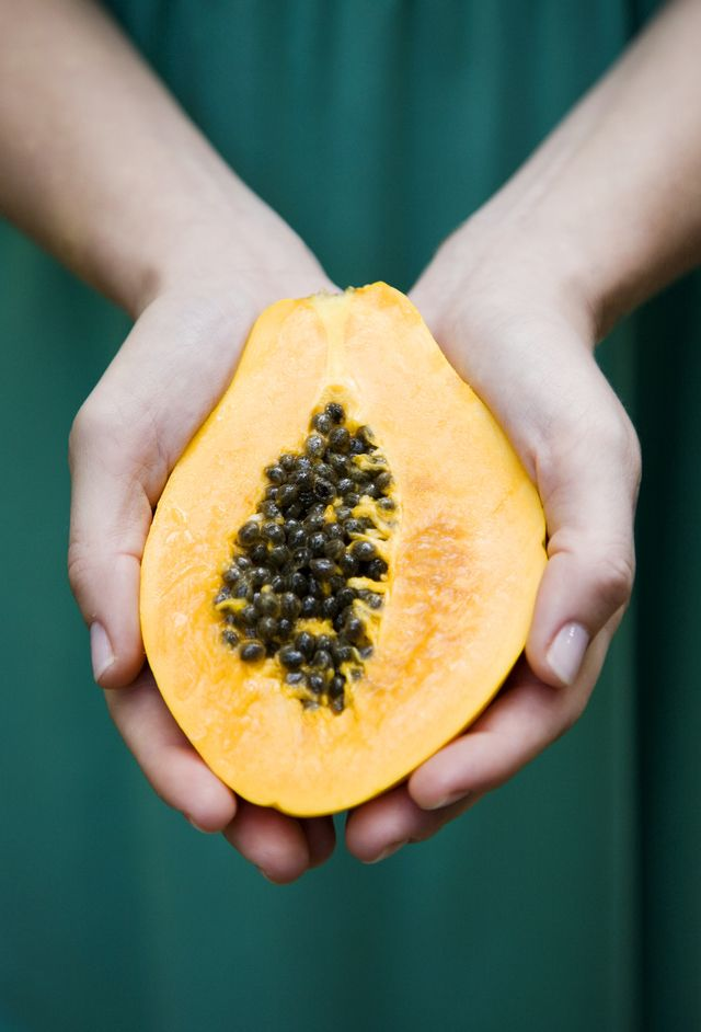 Use this DIY beauty tutorial to whip up a Pineapple + Papaya Facial Exfoliating Mask.