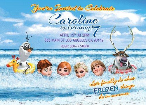Frozen Birthday Party, Frozen Invitation, Disney Frozen Birthday Party