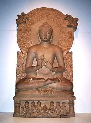 Siddhattha Gotama was a spiritual teacher from the Indian subcontinent, on whose teachings Buddhism was founded. The word Buddha is a title for the first awakened being in an era.
