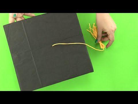 Cómo hacer un birrete o gorro de graduación paso a paso - YouTube
