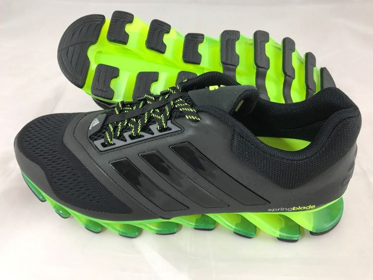 Adidas Springblade Drive 2 Mens Running Shoes Trainers Black / Yellow RRP 150