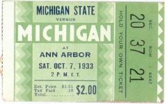 1933 at Ann Arbor: Michigan 20, Michigan State 6