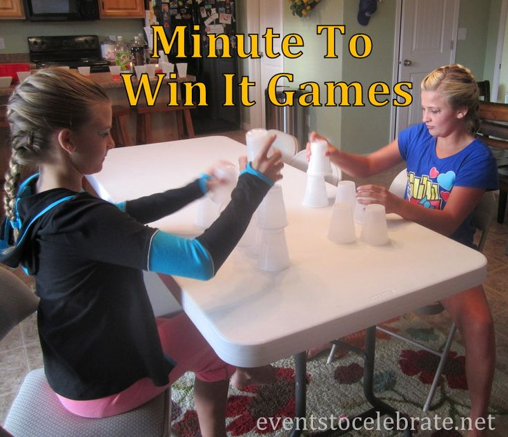 11 Minute To Win It Activities - with supplies you probably already have at  home. Perfect for a birthday party, slumber party or just some afternoon  fun!